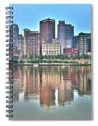 Blue Sky Reflecting Water Spiral Notebook