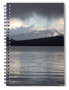 Blue Sky Through Dark Clouds Spiral Notebook