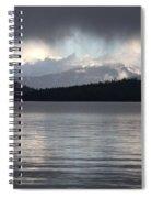 Blue Sky Through Dark Clouds Spiral Notebook