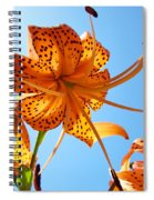 Blue Sky Tiger Lily Floral Garden Art Prints Baslee Troutman Spiral Notebook