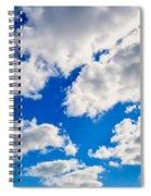 Blue Sky With Cloud Closeup 2 Spiral Notebook