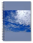 Blue Sky With Clouds Spiral Notebook