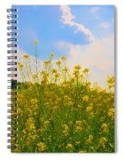 Blue Sky Yellow Flowers Spiral Notebook
