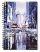 Blue Skyscrapers Spiral Notebook