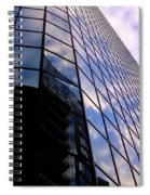 Blue Skyscrapper With A Blue Sky In New Orleans Louisiana Spiral Notebook