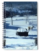 Blue Snow. The Battery Spiral Notebook