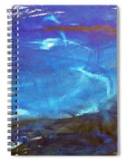 Blue Space Water Spiral Notebook