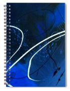 Blue Speed Spiral Notebook