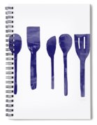 Blue Spoons- Art By Linda Woods Spiral Notebook