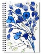 Blue Spray Spiral Notebook