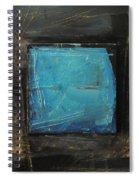 Blue Square Spiral Notebook