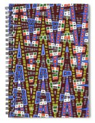 Blue Squares With Dots Spiral Notebook