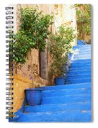 Blue Stairs Spiral Notebook