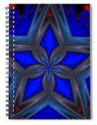 Blue Star Spiral Notebook