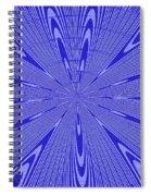 Blue Star Janca Abstract Spiral Notebook