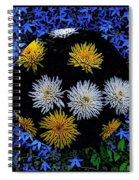 Blue Star Universe Spiral Notebook