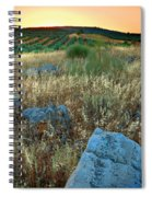 blue stones amongst the olive groves near Iznajar Andalucia Spain Spiral Notebook