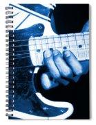 Blue String Bender Spiral Notebook