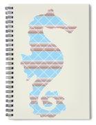 Blue Seahorse Art Spiral Notebook