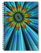 Blue Sun Spiral Notebook