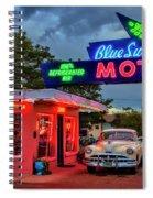 Blue Swallow Motel Spiral Notebook