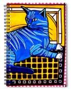 Blue Tabby - Cat Art By Dora Hathazi Mendes Spiral Notebook