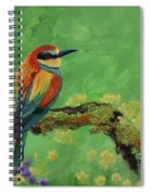 Blue Tailed Bee Eater Spiral Notebook