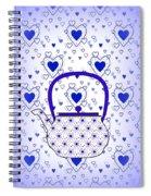 Blue Teapot - Kitchen Spiral Notebook
