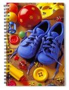 Blue Tennis Shoes Spiral Notebook