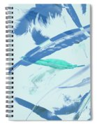 Blue Toned Artistic Feather Abstract Spiral Notebook