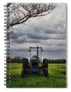 Blue Tractor Green Field Spiral Notebook
