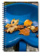 Blue Tractor Seat Spiral Notebook