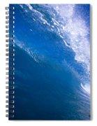 Blue Translucent Wave Spiral Notebook