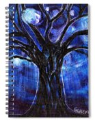 Blue Tree At Night Spiral Notebook