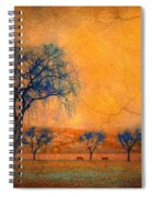 Blue Trees And Dreams Spiral Notebook