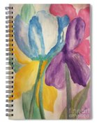 Blue Tulip And Iris Abstract Spiral Notebook