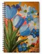 Blue Tulip Trio Spiral Notebook