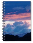 Blue Twilight Clouds Art Prints Mountain Pink Sunset Baslee Troutman Spiral Notebook