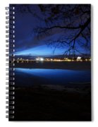 Blue Twilight Over The Charles River Spiral Notebook