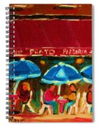 Blue Umbrellas Spiral Notebook