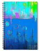 Blue Water And Sky Abstract Spiral Notebook