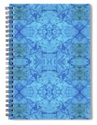 Blue Water Batik Tiled Spiral Notebook