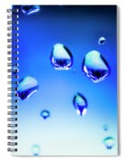 Blue Water Droplets On Glass Spiral Notebook