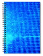 Blue Water Grid Abstract Spiral Notebook