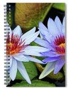 Blue Water Lilies Spiral Notebook