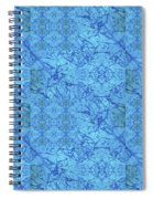 Blue Water Patchwork Spiral Notebook