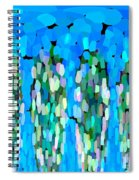 Blue Waterfalls And Teardrops Spiral Notebook