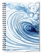 Blue Wave Modern Loose Curling Wave Spiral Notebook