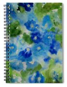 Blue Wet On Wet Spiral Notebook