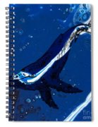 Blue Whale Spiral Notebook